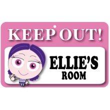 Keep Out Door Sign - Ellie's Room