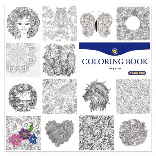 Pbx2471325 - Playbox - Colouring Book 305x305mm