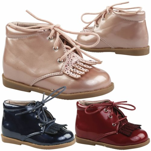 Piper Girls Toddlers Flat Fringed Lace Up Ankle Boots