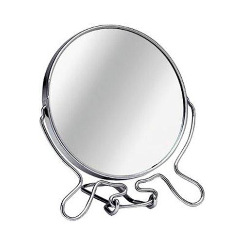 2 Way Swivel Shaving Mirror, Medium - Silver