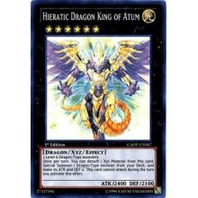 YuGiOh  Hieratic Dragon King of Atum (GAOVEN047)  Galactic Overlord  1st Edition  Super Rare