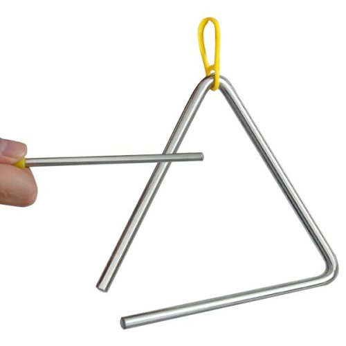 Trixes Musical Triangle Instrument with Beater for Schools