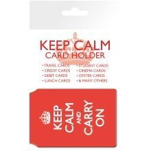Keep Calm and Carry on Travel Pass Card Holder