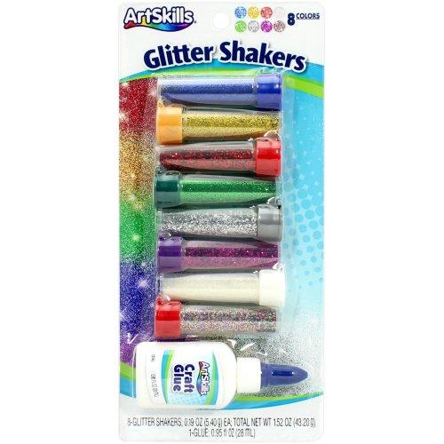 Glitter Shakers Ultra-Fine .19oz 8/Pkg-Assorted Colors