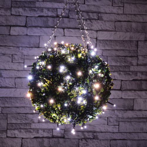 Outdoor LED battery operated String Lights with Timer