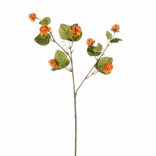 Artificial Amber Harvest Hop Spray Stem - 63cm - Orange Decorative Flowers