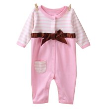 Baby Suit Baby Clothing Long-Sleeved Cotton Baby Crawl Sports Clothing Pink