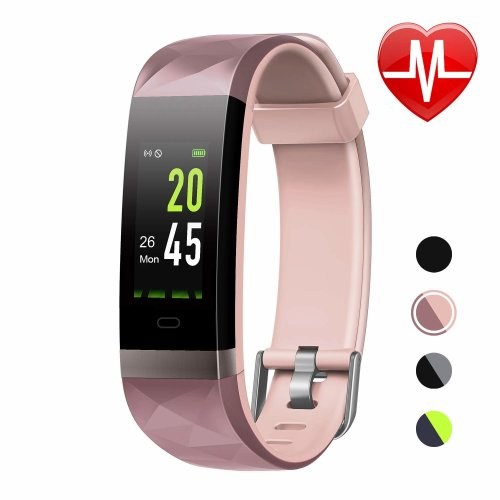 LETSCOM Fitness Tracker HR Color Screen, Heart Rate Monitor, IP68 Waterproof Smart Watch with Step Counter Sleep Monitor, Pedometer Watch for Men...