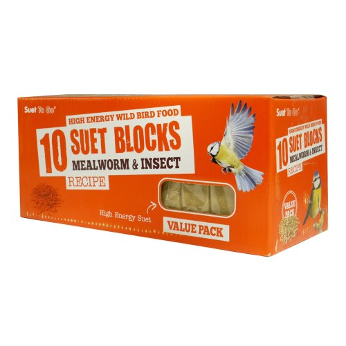 Suet To Go Blocks Mealworm & Insect Value 10 Pack