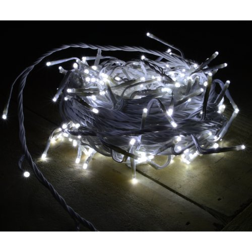 240 Led 18m Cool White Indoor Outdoor Christmas Lights On White Wire
