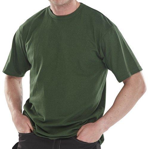 Click CLCTSHWBGL T Shirt Heavy Cotton Bottle Green Large