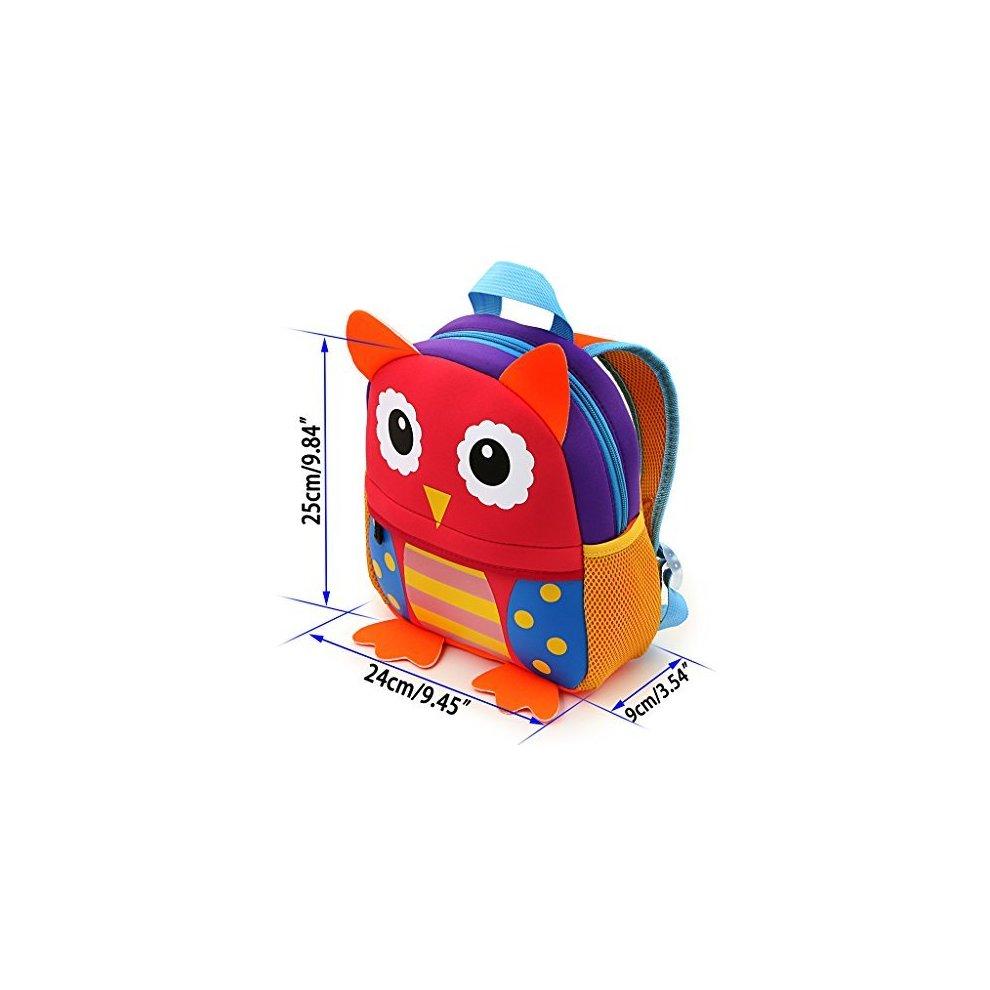 aa3442521da5 ... IGNPION Nursery Kids Backpacks Toddle Children School Bag Zoo Lunch Bag  3D Cute Animal Cartoon Preschool ...