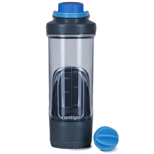 Contigo Kangaroo Shake & Go FIT Gym Protein Shaker Bottle 720ml w Storage & Ball