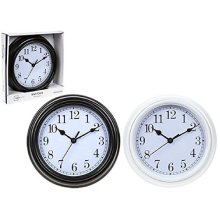 Retro Round Battery Operated Wall Clock - One Only -