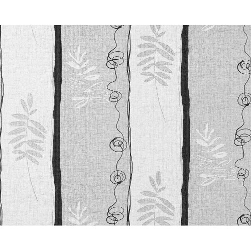 EDEM 685-96 non-woven wallpaper floral wide stripes white light grey | 10.65 sqm