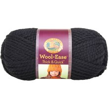 Lion Brand Wool-Ease Thick & Quick Yarn-Black