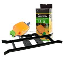 Masterplug Rewireable Weatherproof Power Socket and Cable Tidy H Frame