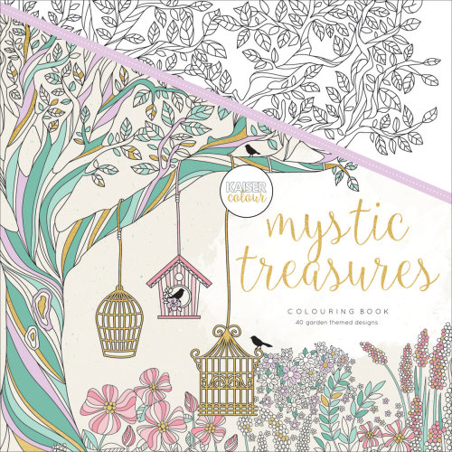 "KaiserColour Perfect Bound Coloring Book 9.75""X9.75""-Mystic Treasures"