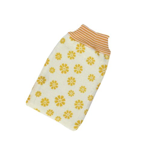Printing Single Bath Towel Exfoliating Rubbing Towel,Yellow