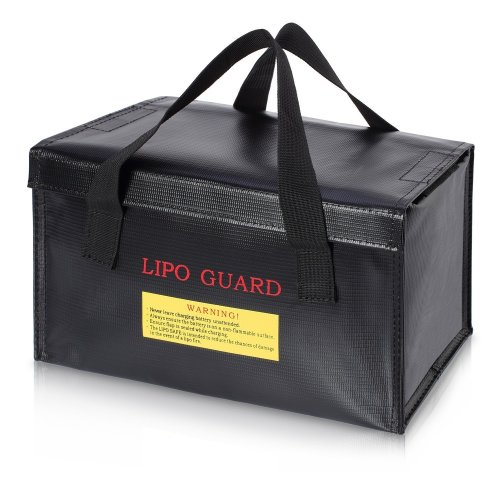 Lipo Battery Bag ENGPOW Fireproof Safe Explosionproof Organizer for Lipo Battery Storage and Charging Box,Large Space Fire and Water Resistant...