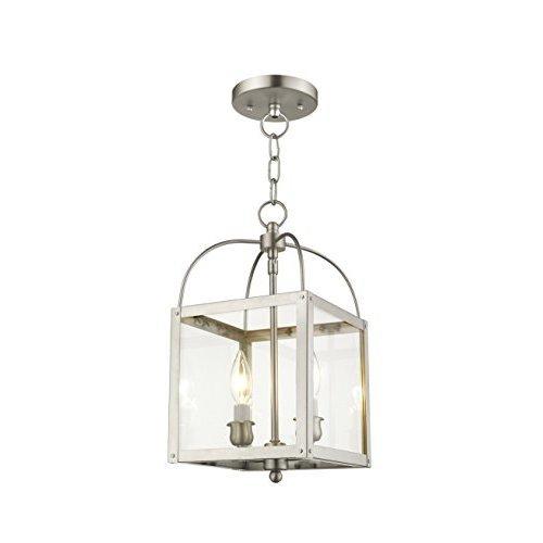 Livex Lighting 4041 91 Milford 2 Light Convertible Hanging LanternCeiling Mount Brushed Nickel