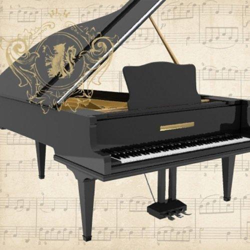 4 x Paper Napkins - Concerto Piano  - Ideal for Decoupage / Napkin Art