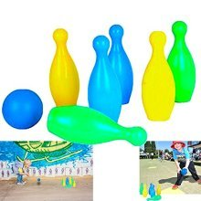 Dazzling Toys Kids Plastic Bowling Set Party Toys - 6 Pins and One  Comes in Nice and Bright Colors