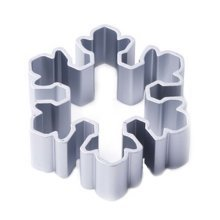 3 Pcs Snowflake Shape Aluminum DIY Baking Mold Cookies Cut