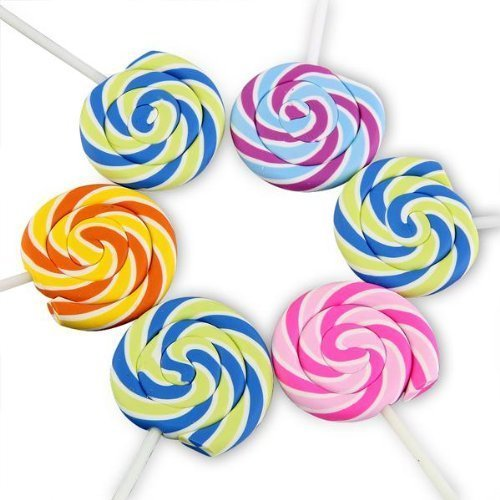 Swirls Lollipop Candy Rubber Erasers