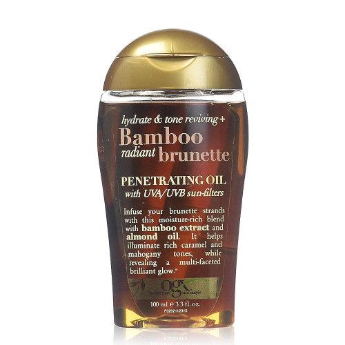 OGX Bamboo Radiant Brunette Penetration Oil, 3.3 oz