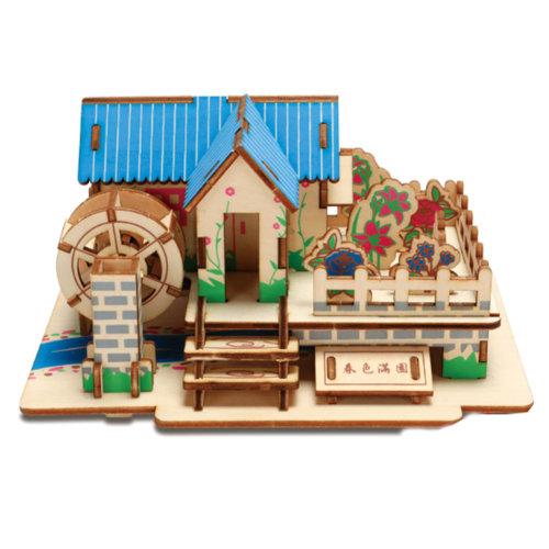 3D Wooden Puzzle Architecture Building Puzzle DIY Toys 2 Pcs #3