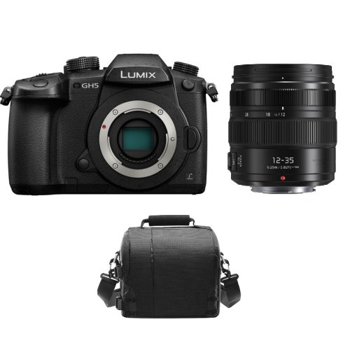 PANASONIC DMC-GH5 Black + 12-35mm F2.8 II ASPH O.I.S Black+ camera Bag