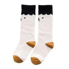 Comfortable Soft Children's Sports Long Socks, Black And Yellow