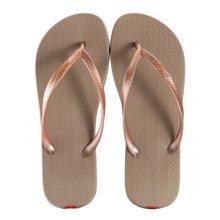 Unisex Casual Flip-flops Beach Slippers Anti-Slip House Slipper Light Brown
