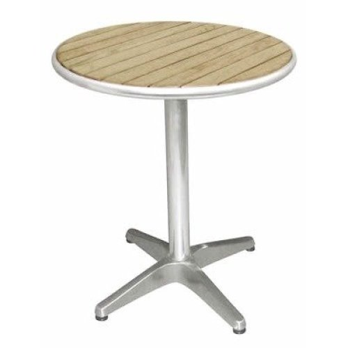 Dalia Patio Round Bistro Table Ash Top