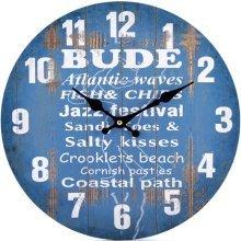 Blue Bude Theme Wall Clock