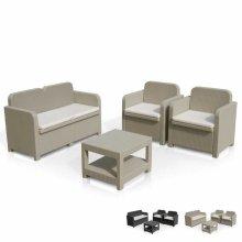 Garden sofa outdoor lounge 4 seater table cushions Sorrento Grand Soleil