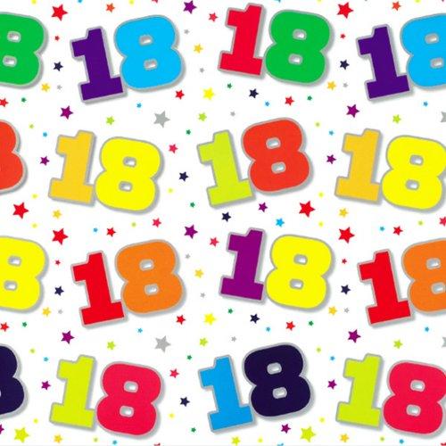 Simon Elvin 24 Sheets 18th Birthday Gift Wraps