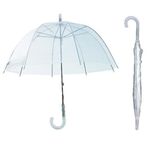 RainStoppers W103CHDOME 36 in. Childrens Clear Dome Umbrella, 3 Piece