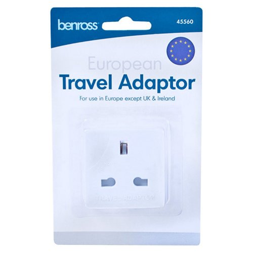 Home & Living EU To UK European Travel Plug Adaptor