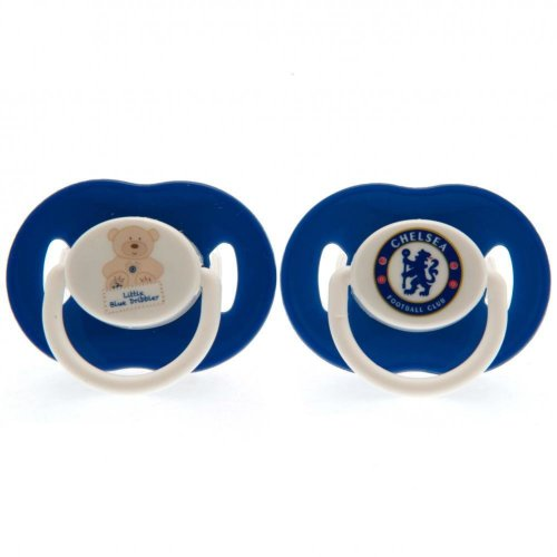 Chelsea FC Official Soothers (Pack Of 2)