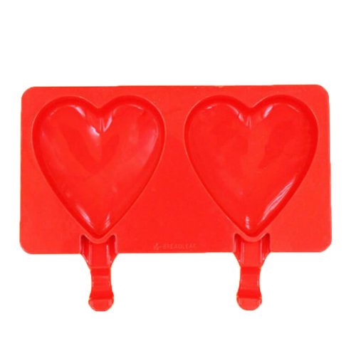 DIY Frozen Ice Cream Mold Ice Lolly Makers Creative Popsicle Molds-Heart-shaped