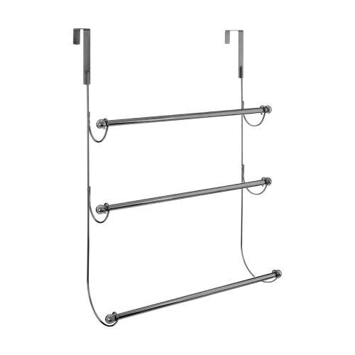 3-Tier Over Door Hanging Towel Rail, Chrome