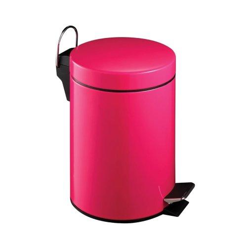 3 Litre Pedal Bin, Hot Pink