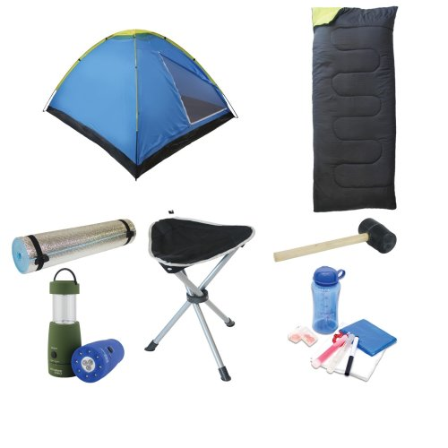 Standard Festival Pack (tent + sleeping bag + mallet + stool + torch + accessory set + mat)