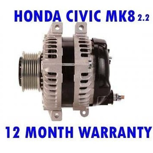 Honda civic mk8 mk VIII hatchback 2.2 2006 - 2015 alternator 12 month warranty