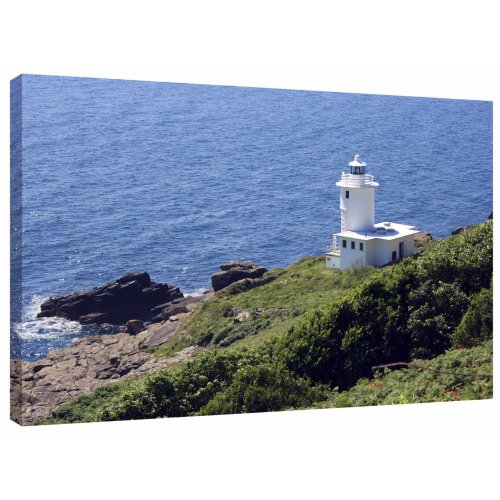 Tater Du Lighthouse Cornwall Canvas Wall Art Picture Print