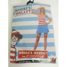 Extra Small Ladies Where's Wally Wenda Costume -  wheres costume wenda dress fancy wally cutie ladies outfit licensed womens book