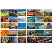 30 PCS 1 Set Chinese Beautiful City Postcards, Xinjiang