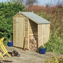 4x3 Oxford Shed with Lean to